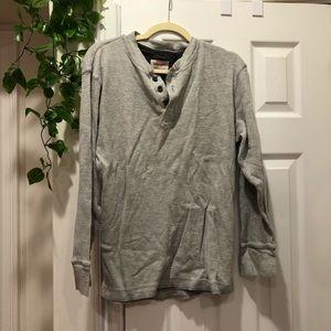 wrangler thermal henley shirt